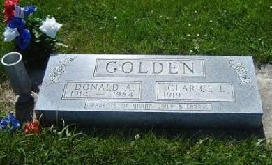 GOLDEN, DONALD A. - Hamilton County, Iowa   DONALD A. GOLDEN