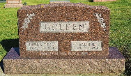 GOLDEN, RALPH H. - Hamilton County, Iowa   RALPH H. GOLDEN