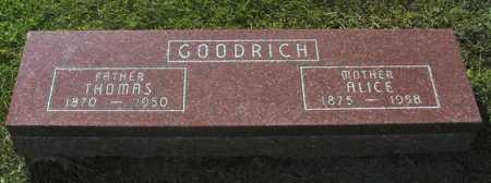 GOODRICH, ALICE SARAH - Hamilton County, Iowa | ALICE SARAH GOODRICH