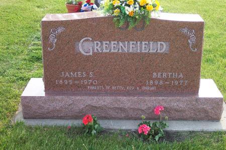 GREENFIELD, BERTHA - Hamilton County, Iowa | BERTHA GREENFIELD