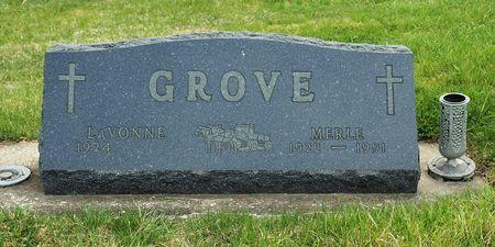 GROVE, MERLE - Hamilton County, Iowa   MERLE GROVE
