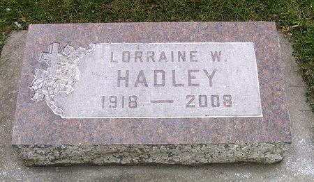 HADLEY, LORRAINE W. - Hamilton County, Iowa   LORRAINE W. HADLEY