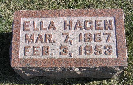 HAGEN, ELLA - Hamilton County, Iowa   ELLA HAGEN