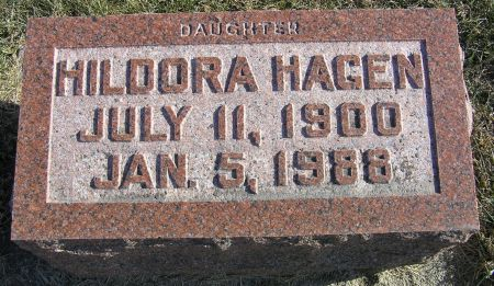 HAGEN, HILDORA - Hamilton County, Iowa   HILDORA HAGEN