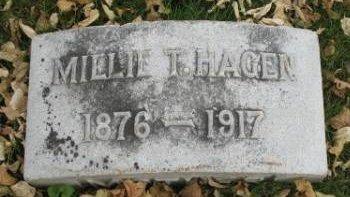 HAGEN, MILLIE T. - Hamilton County, Iowa   MILLIE T. HAGEN