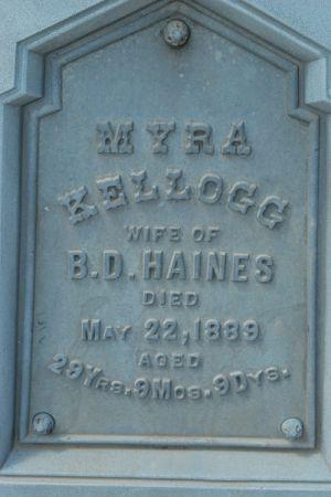 KELLOGG HAINES, MYRA - Hamilton County, Iowa | MYRA KELLOGG HAINES