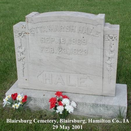 HALE, ETTA (MARSH) - Hamilton County, Iowa | ETTA (MARSH) HALE