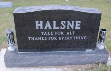 HALSNE, FAMILY STONE - Hamilton County, Iowa | FAMILY STONE HALSNE