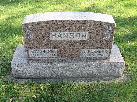JOHNSON HANSON, CAROLINE - Hamilton County, Iowa   CAROLINE JOHNSON HANSON