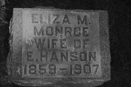 MONROE HANSON, ELIZA M. - Hamilton County, Iowa | ELIZA M. MONROE HANSON