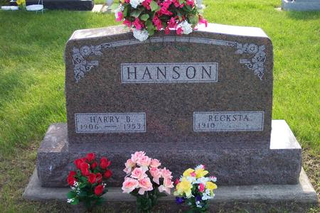 HANSON, HARRY B. - Hamilton County, Iowa | HARRY B. HANSON