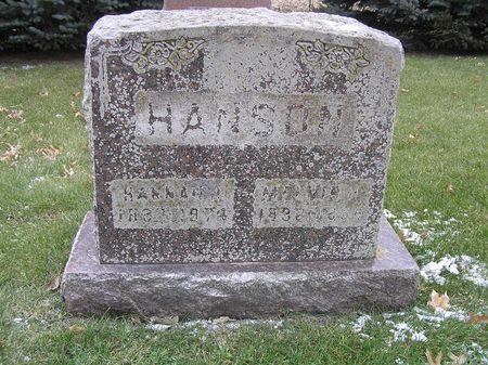 ALVESTAD HANSON, HANNAH J. - Hamilton County, Iowa | HANNAH J. ALVESTAD HANSON