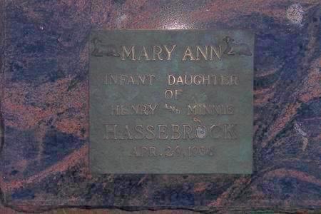 HASSEBROCK, MARY ANN - Hamilton County, Iowa | MARY ANN HASSEBROCK