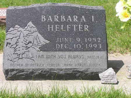 HELFTER, BARBARA I - Hamilton County, Iowa | BARBARA I HELFTER