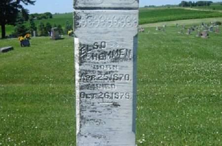 HEMMEN, ELSO - Hamilton County, Iowa   ELSO HEMMEN