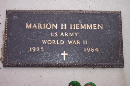 HEMMEN, MARION H. - Hamilton County, Iowa   MARION H. HEMMEN