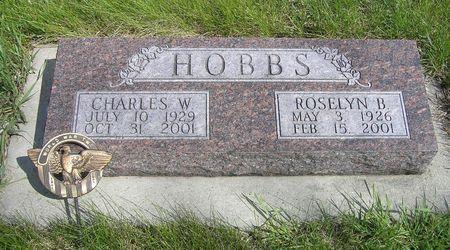 HOBBS, CHARLES W. - Hamilton County, Iowa   CHARLES W. HOBBS