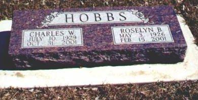 HOBBS, CHARLES W. - Hamilton County, Iowa | CHARLES W. HOBBS