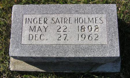 SATRE HOLMES, INGER - Hamilton County, Iowa   INGER SATRE HOLMES