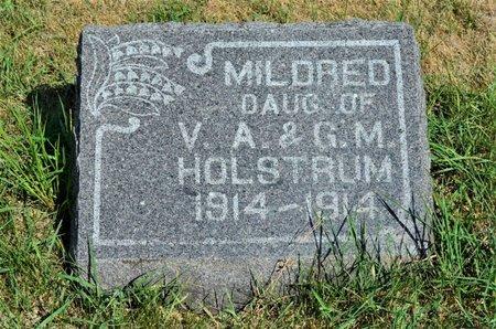 HOLSTRUM, MILDRED - Hamilton County, Iowa   MILDRED HOLSTRUM