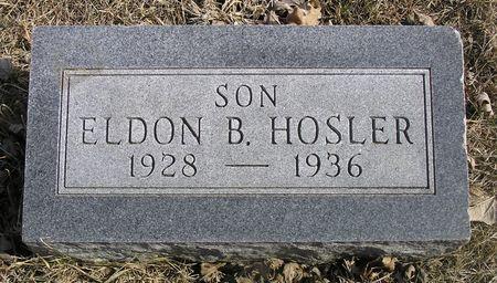 HOSLER, ELDON B. - Hamilton County, Iowa   ELDON B. HOSLER