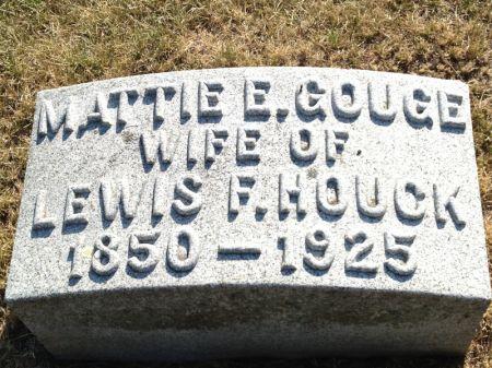 GOUGE HOUCK, MATTIE E. - Hamilton County, Iowa | MATTIE E. GOUGE HOUCK