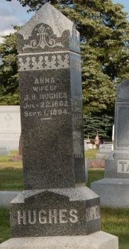 CAMPBELL HUGHES, ANNA - Hamilton County, Iowa   ANNA CAMPBELL HUGHES