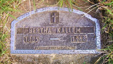KALLEM, BERTHA - Hamilton County, Iowa   BERTHA KALLEM