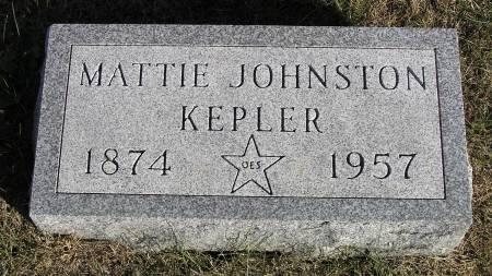 JOHNSTON KEPLER, MATTIE - Hamilton County, Iowa | MATTIE JOHNSTON KEPLER