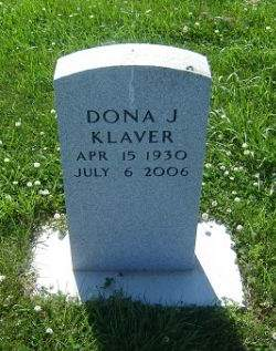 KLAVER, DONA J. - Hamilton County, Iowa   DONA J. KLAVER