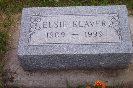 KLAVER, ELSIE - Hamilton County, Iowa | ELSIE KLAVER