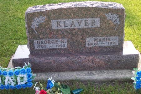 KLAVER, MARIE - Hamilton County, Iowa | MARIE KLAVER