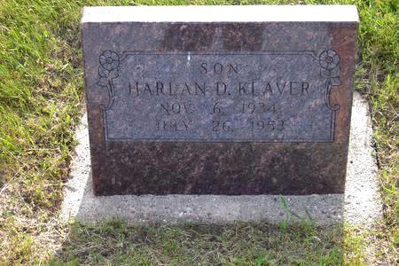 KLAVER, HARLAN D. - Hamilton County, Iowa | HARLAN D. KLAVER