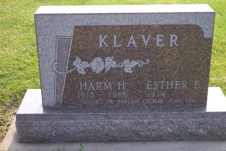 KLAVER, HARM H. - Hamilton County, Iowa | HARM H. KLAVER