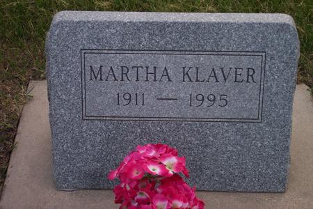 KLAVER, MARTHA - Hamilton County, Iowa | MARTHA KLAVER
