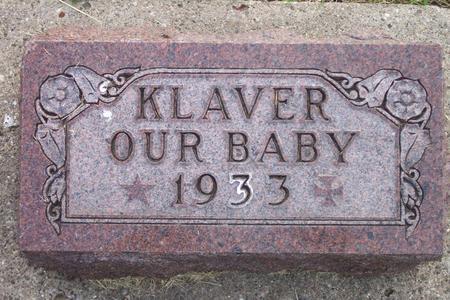 KLAVER, OUR BABY - Hamilton County, Iowa | OUR BABY KLAVER