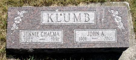 CHALMA KLUMB, JENNIE - Hamilton County, Iowa   JENNIE CHALMA KLUMB
