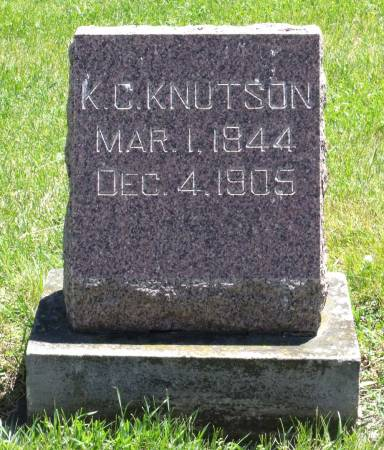 KNUTSON, KNUT C. - Hamilton County, Iowa   KNUT C. KNUTSON