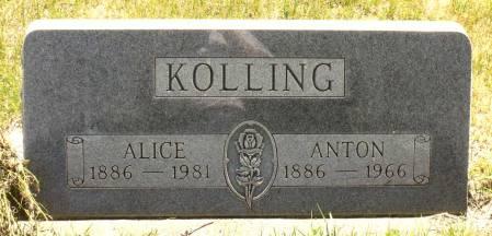 KOLLING, ALICE - Hamilton County, Iowa   ALICE KOLLING