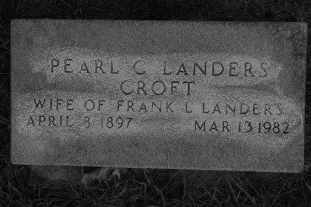 CROFT LANDERS, PEARL C. - Hamilton County, Iowa   PEARL C. CROFT LANDERS