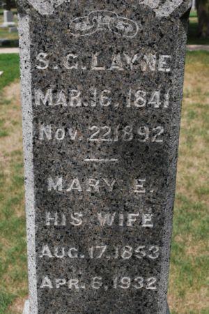 ADAMS LAYNE, MARY E. - Hamilton County, Iowa | MARY E. ADAMS LAYNE