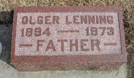 LENNING, OLGER - Hamilton County, Iowa   OLGER LENNING