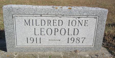 LEOPOLD, MILDRED IONE - Hamilton County, Iowa | MILDRED IONE LEOPOLD