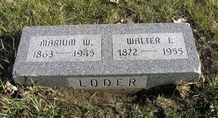 LODER, MARIUM W. - Hamilton County, Iowa   MARIUM W. LODER