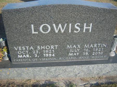 LOWISH, VESTA - Hamilton County, Iowa   VESTA LOWISH