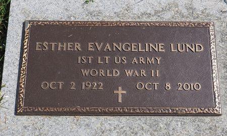 LUND, ESTHER EVANGELINE - Hamilton County, Iowa | ESTHER EVANGELINE LUND