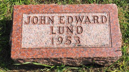 LUND, JOHN EDWARD - Hamilton County, Iowa | JOHN EDWARD LUND