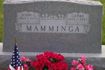 MAMMINGA, GEPKE - Hamilton County, Iowa   GEPKE MAMMINGA