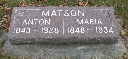 PEDERSEN MATSON, MARIA - Hamilton County, Iowa   MARIA PEDERSEN MATSON
