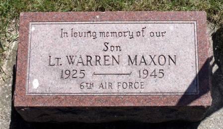 MAXON, WARREN - Hamilton County, Iowa | WARREN MAXON